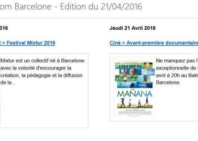 Le petit Journal Barcelone emailing 210416 - BCN
